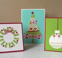 resultado de imagen para tarjetas navideas hechas a mano ms