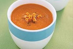 A perfect winter warmer, this homemade tomato soup is made with chili-style stewed tomatoes, giving it a kick of flavour.
