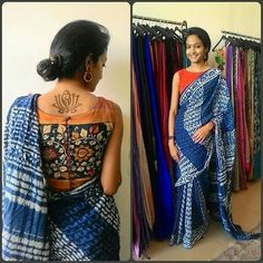 sleeveless back buttons kalamkari blouse