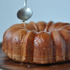 Butter Rum Cake with Glaze