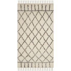 Safavieh Handmade Casablanca Ivory / Brown Wool / Cotton Rug (8' x 10')