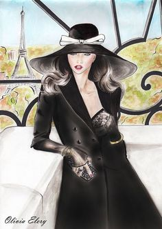 awesome View of Paris- fashion illustration on Behance... by http://www.polyvorebydana.us/fashion-sketches/view-of-paris-fashion-illustration-on-behance/