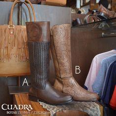 Las grandes decisiones se toman por instinto, por eso me llevo las dos. #CUADRA #Boots #Botas