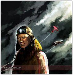 A German World War I pilot Art Print.