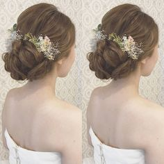 結婚式の前撮り 洋装ロケーション撮影のお客様 波ウェーブなしで 下めでまとめたきれいめアップ 下めのシニヨンは大きめに! 紫陽花や、かすみ草を 沢山付けました♪ #ヘア #ヘアメイク #ヘアアレンジ #結婚式 #結婚式ヘア #スタジオ撮影 #美容学生 #バニラエミュ #セットサロン #ヘアセット #アップスタイル #東海プレ花嫁 #プレ花嫁 #フォトウェディング #前撮り #着物ヘア#ロケーション撮影#結婚式準備 #ウェディングドレス #お呼ばれヘア#2017夏婚 #2017春婚 #結婚準備#出張ヘアメイク #日本中のプレ花嫁さんと繋がりたい #2017秋婚 #振袖 #花嫁ヘア#和装ヘア#2017冬婚