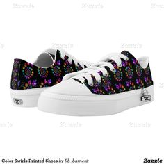 Color Swirls Printed Shoes