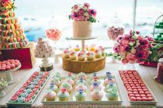 Sweet as Spring Dessert Table with SUCH CUTE IDEAS via Kara's Party Ideas | KarasPartyIdeas.com #SpringtimeParty #BreastCancerAwareness #Par...