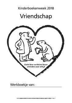 Kinderboekenweek 2018: Vriendschap | Rian Visser Creative Teaching, Fun Learning, Homeschool, Classroom, Projects, Kids, Art, White Things, Pictogram