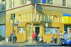 Turk Street in the Tenderlion  San Francisco  www.mitchellfunk.com