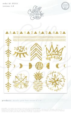 Flash tattoos - how cool would these be and chapters could purchase them in bulk for bid day or big events