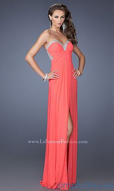 Open Back Prom Gown by La Femme 19703 at SimplyDresses.com