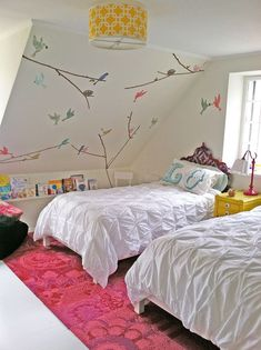 30 Creative and Trendy Shabby Chic Kids' Rooms Attic Bedroom Designs, Kids Bedroom, Bedroom Decor, Kids Rooms, Master Bedroom, Bedroom Ideas, Bedroom Colors, Bedroom Inspiration, Small Rooms