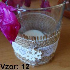 Sklenený svietnik Jarko - Sviečka - S čajovou sviečkou (plus 0,10€), Vzor - Vzor 12