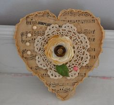 Paper and lace heart