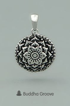 Detailed, concentric rings create a tiny mandala pendant you can wear anywhere. Lightweight and marvelously detailed with a layered effect. Lotus Mandala, Metal Clay Jewelry, Inspirational Jewelry, Cosmos, Belly Button Rings, Universe, Artisan, Jewelry Design, Pendants