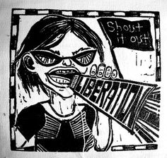 Anarcho Feminist Liberation Punk DIY Patch Screen Printed