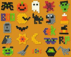 Halloween Bingo Perler Project Pattern