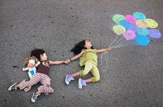 9 creative sidewalk chalk photos