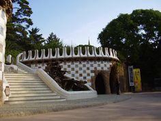 Park Güell, 8 am, empty park hehehehe Parc Guell, Gaudi, Empty, Barcelona, Places To Visit, Sidewalk, Park, Side Walkway, Barcelona Spain