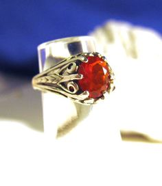 Earth Mine Mexican Cherry Red Fire Opal by GriffinsNestJewelry