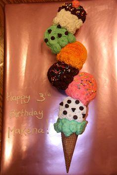 Cake at at an Ice Cream Party #icecream #partycake