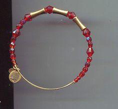 ALEX & ANI ENDLESS RED glass bracelet - http://designerjewelrygalleria.com/alex-ani/alex-ani-endless-red-glass-bracelet/