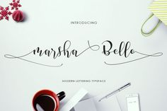Marsha Belle is a modern lettering typeface that comes with dancing up and down baseline. This beautiful fonts works properly and perfectly for logos, wedding invitation card, stationary, packaging, clothing, flyer, apparel, magazines, brochures, headings, signature, lable, news, posters, badges, etc. This beauty font was PUA encoded. Marsha Belle features<