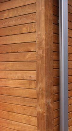 Recycled teak wallsiding