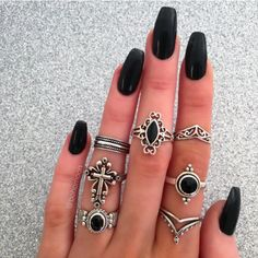 Attractive Looking Nails with Solar Nails Nail Jewelry, Cute Jewelry, Jewellery, Yellow Nails, Black Nails, Piercing Ring, Piercings, Cute Nails, My Nails