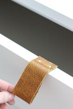 ♥ DIY: Ikea Malm dresser + leather handles
