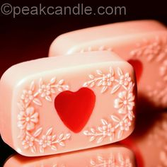 Valentine's Heart Embed Soaps -   These adorable soaps will get you in the Valentine's Day spirit!