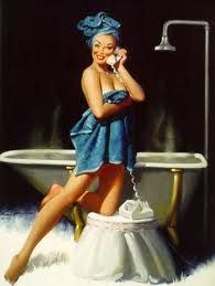 shower pin up