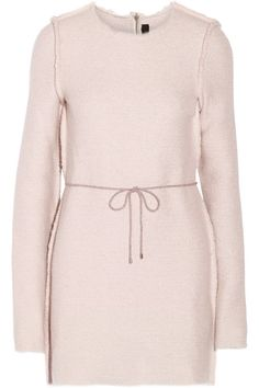 Pastel-pink jacquard-knit Concealed snap and zip fastening at back 30% alpaca, 30% wool, 20% nylon, 10% silk, 10% cashmere Dry clean