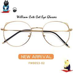 cf074b1962 William Cute Cat Eye Glasses FM0053-03 Cat Eye Glasses