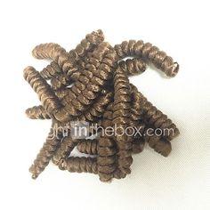 Bouncy Curl Synthetic ombre braiding hair braids free hook gift kanakalon crochet braids bouncy curly saniya curls 20roots/pack 5packsmakehead 2017 - €7.43