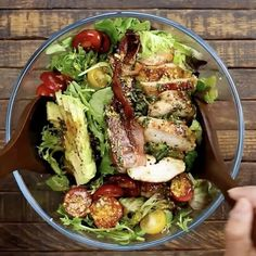 "1,346 Likes, 28 Comments - Jessica Merchant (@howsweeteats) on Instagram: ""my favorite salad EVER! this Rosemary Chicken, Bacon and Avocado Salad is so ridiculously flavorful…"""