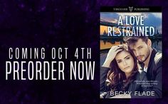 .(.(. (..).).).). PREORDER FOR #99CENTS .(. (.(..).).)..).  A LOVE RESTRAINED by Becky Flade. Coming October 4th! Preorder Now For Just $0.99! Amazon > http://amzn.to/2hPxao8 #ALoveRestrained #BeckyFlade #PureTextualityPR #ALRPOB811 #romance #romanticsuspense #suspense #romancereaders #romancewriter #romanceauthor #books #ebooks #99pennies #amreading #comingsoon #preorder #preordernow Old secrets new threatsWhat are they willing to sacrifice? Philadelphia police officer Kylee Parker is…