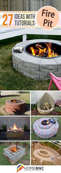 4 Stupendous Cool Ideas: Large Fire Pit Fireplaces fire pit bowl back yard.Fire Pit Cover Back Yard fire pit sign hot tubs. Metal Fire Pit, Diy Fire Pit, Fire Pit Backyard, Backyard Patio, Backyard Landscaping, Fire Pits, Backyard Fireplace, Backyard Projects, Outdoor Projects