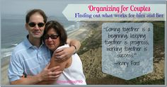 Organizing for Couples @DownshiftingPRO - understanding that compromise and dividing up of the chores in the house makes for a happier #marriage #organize #chores #relationships