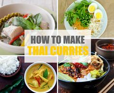 Anyone can make a good Thai curry. This step-by-step infographic guide will walk you through the process so that you can make many delicious Thai curries! Entree Recipes, Asian Recipes, Soup Recipes, Cooking Recipes, Yummy Recipes, Healthy Recipes, Curry Potato Salad Recipe, Thai Curry Recipes, Khao Soi