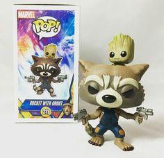 Rocket with Groot Funko Pop Collector Corps Exclusive Pop Vinyl Collection, Best Funko Pop, Toy Rocket, Funko Pop Dolls, Funk Pop, Dream Pop, Avengers, Pop Toys, Pop Characters
