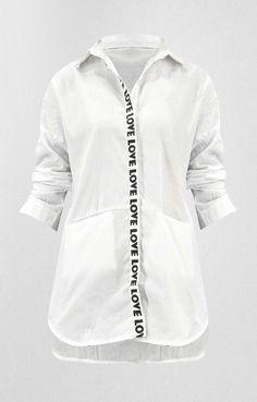 Γυναικεία πουκαμίσα love   Nέες Παραλαβές - Γυναίκα   Metal Λευκό Coat, Jackets, Fashion, Down Jackets, Moda, Sewing Coat, Fashion Styles, Peacoats, Fashion Illustrations