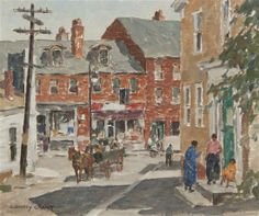 """""""Gloucester,"""" J. Jeffrey Grant, oil on canvasboard, 14 x 16"""", private collection."""