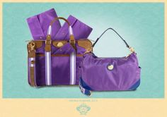 Purple, lilac, blue and stand on the brown details of the women's collection. A tone on tone for practical, spacious and light bags to take with you every day, at work and during leisure time. Metallerie gold illuminate these models. www.orobianco.com