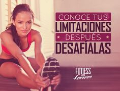 Conoce tus limitaciones, después, desafíalas. Fitness en femenino. Pilates Video, Gym Video, Pilates Workout, Gym Workouts, Fitness Pilates, Workout Fitness, Fitness Motivation Quotes, Weight Loss Motivation, Tgif