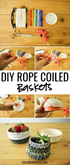 Make it this week! Easy Rope Coiled Basket tutorial to use all over your home!