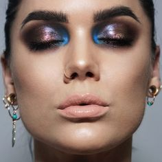 "Linda Hallberg (@lindahallberg) on Instagram: ""SHINY! On my eyes are @lindahallbergcosmetics Enchanted Secrets & infinity palette. The blue on the…"""