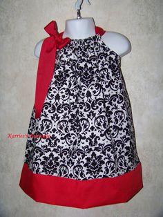 Demask Pillowcase Dress / Cute / Girly / by KarriesBoutique