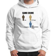 Same Crime Gildan Hoodie (on man) Shirt