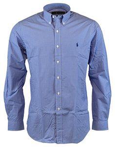POLO RALPH LAUREN Polo Ralph Lauren Men S Standard-Fit Checked Poplin Sport  Shirt.   e6fafb4917c0